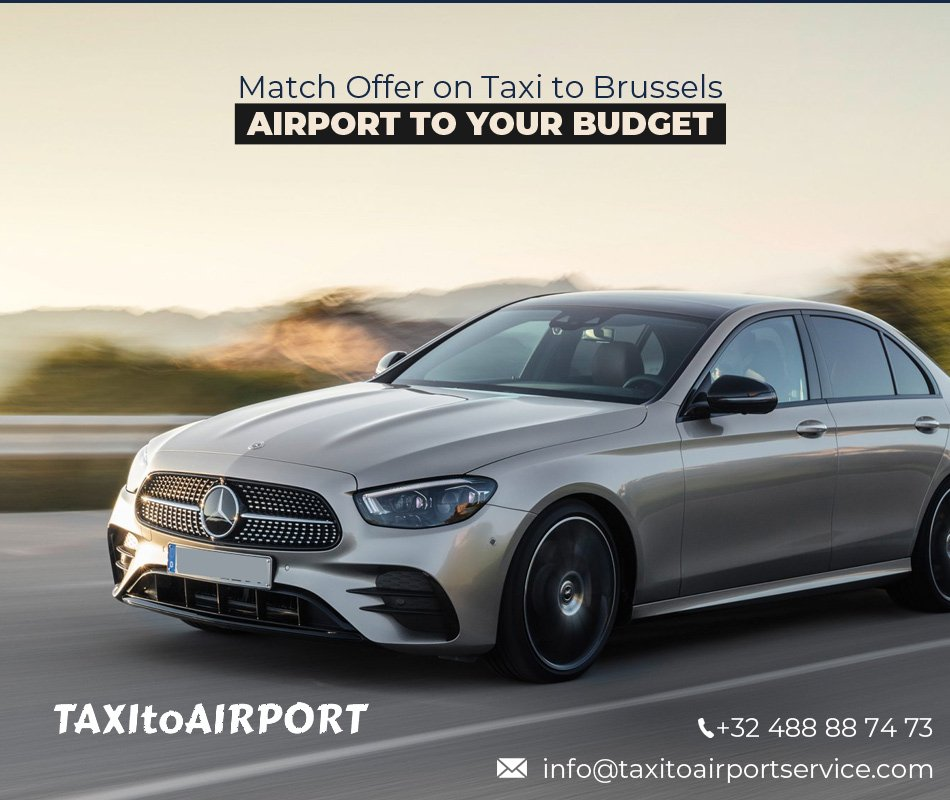 Taksi Brysselin lentokentälle budjettiisi